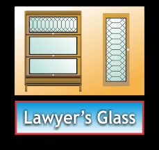 leaded glass for lawyer's bookcases