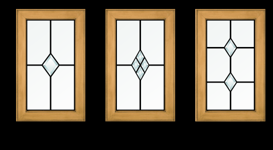 simple rectangular or diamond shaped grids