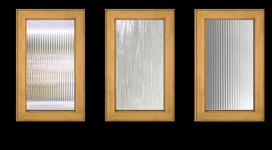 Narrow Reeded, Clear Chord, 1/2u0027 Reeded Glass